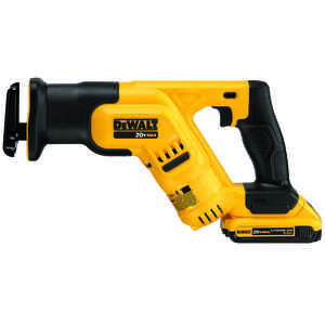 DeWalt  20V MAX  1-1/8 in. Cordless  Compact Reciprocating Saw  Kit 20 volt 2900 spm