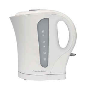 Proctor Silex  White  Glass/Plastic  1.7  Electric Tea Kettle
