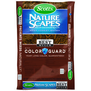 Scotts  Nature Scapes  Deep Forest Brown  Bark  Color-Enhanced Mulch  2 cu. ft.