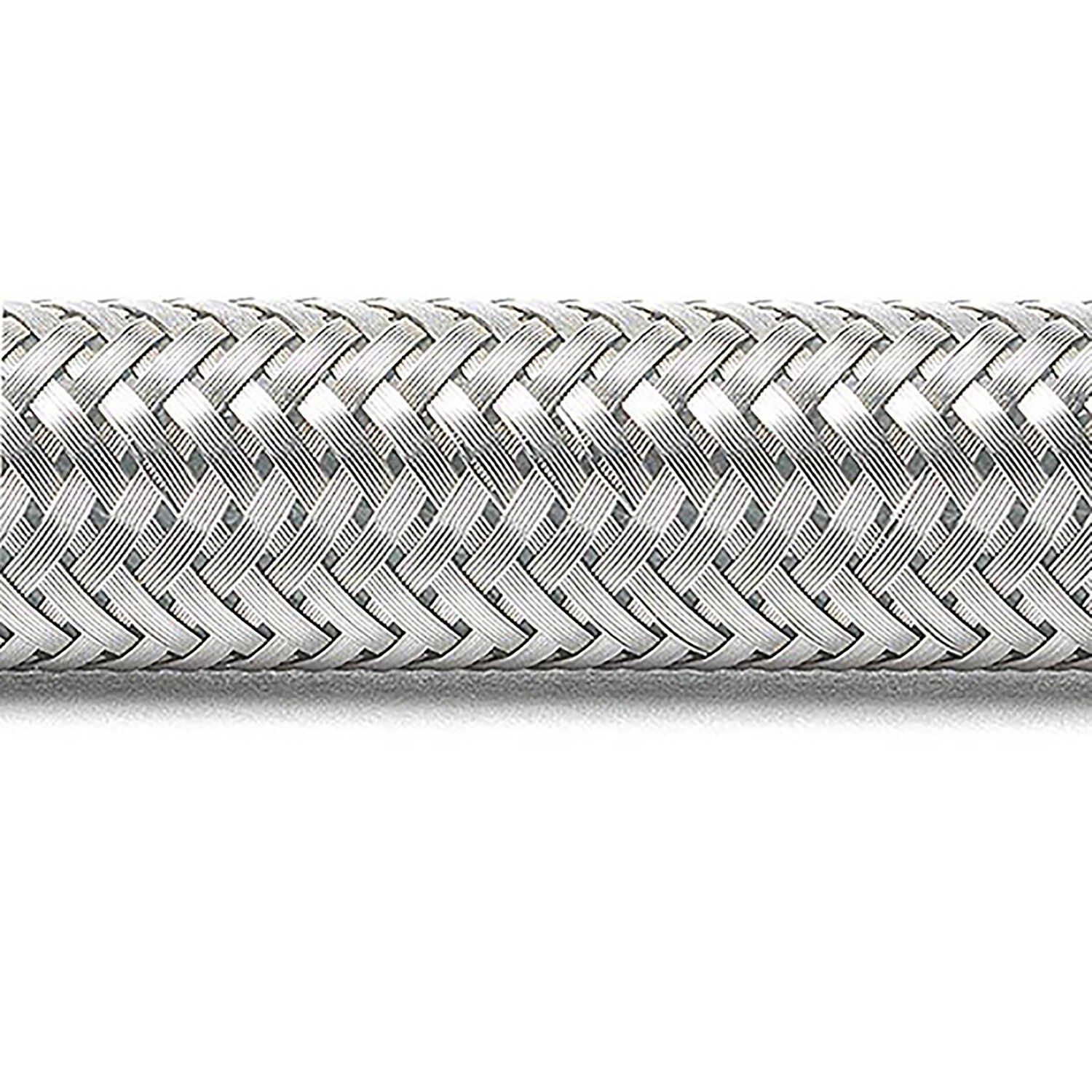 Ace  3/8 in. Compression   x 3/8 in. Dia. MIP  48 in. Braided Stainless Steel  Supply Line