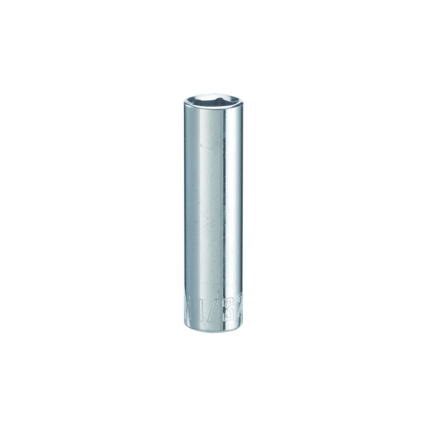Craftsman  11/32 in.  x 1/4 in. drive  SAE  6 Point Deep  Socket  1 pc.