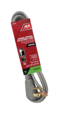 Ace  16/3 SPT-3  125 volt 4 ft. L Appliance Cord