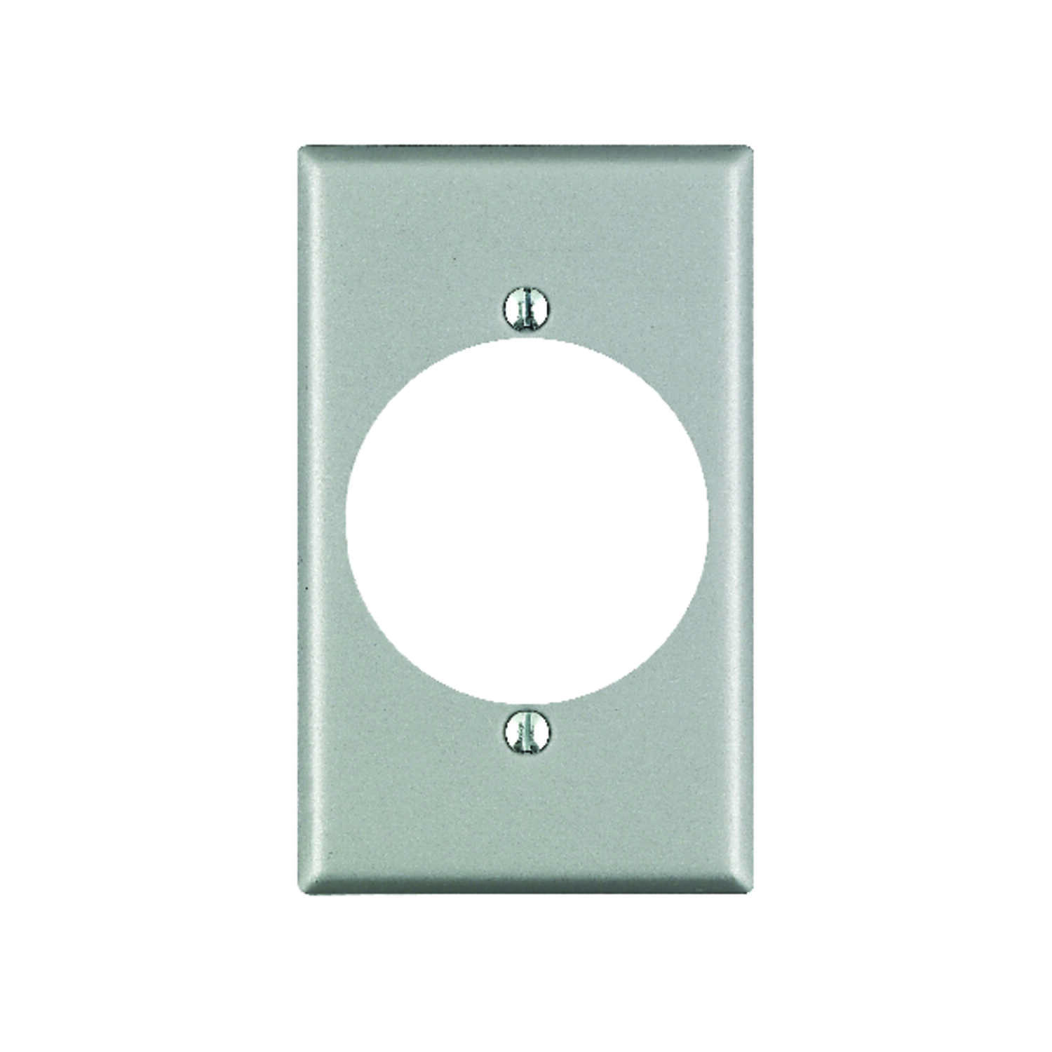 Leviton  Silver  1 gang Aluminum  Outlet  Wall Plate  1 pk