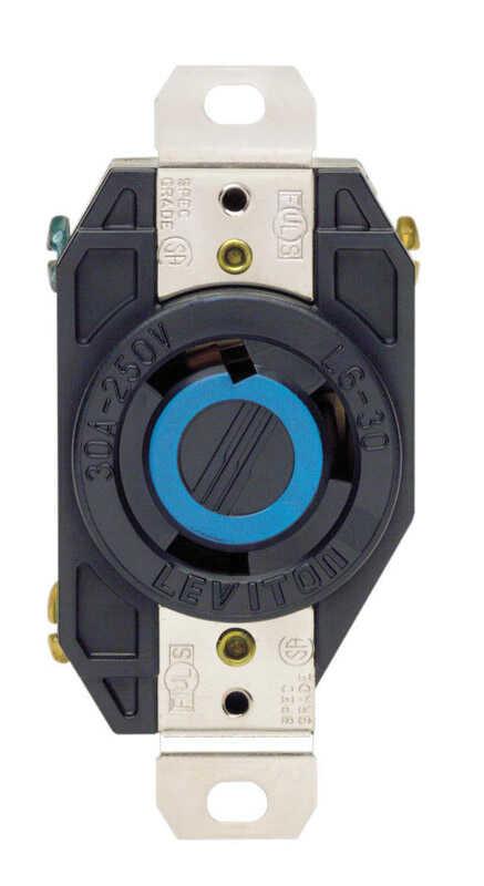 Leviton V-O-Max 30 amps 250 volt Black Outlet L6-30R 1 pk - Ace Hardware