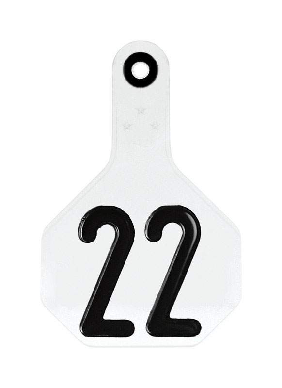 Y-Tex  Medium Numbered  Plastic  2-Piece Ear Tag