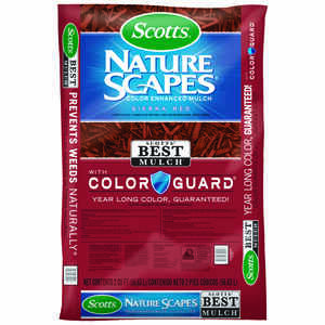 Scotts  Nature Scapes  Sierra Red  Bark  Color-Enhanced Mulch  2 cu. ft. 12 sq. ft.