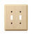 Amerelle Contemporary Unfinished Beige 2 gang Wood Toggle Wall Plate 1 pk