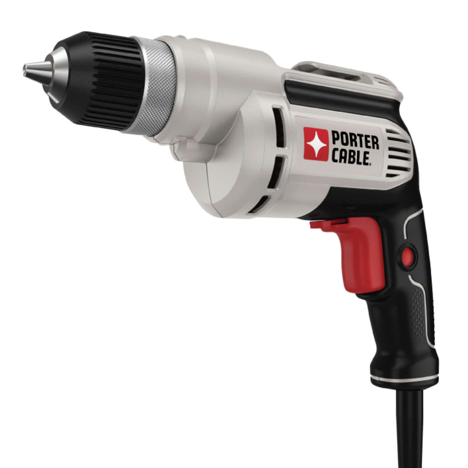 Porter Cable  3/8 in. Keyless  VSR Corded Drill  Bare Tool  6.5 amps 2500 rpm