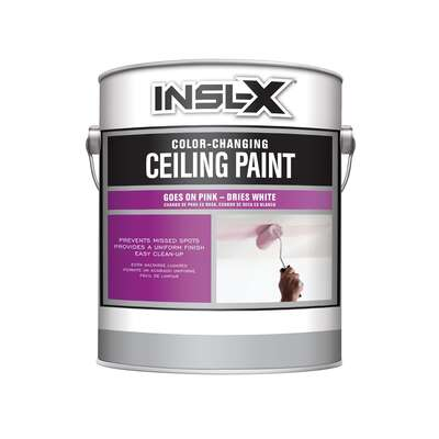 Insl-x  Flat  White  Color Changing Ceiling Paint  Interior  1 gal.