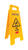 Rubbermaid English Yellow Caution Easel Floor Sign 26 in. H x 11 in. W
