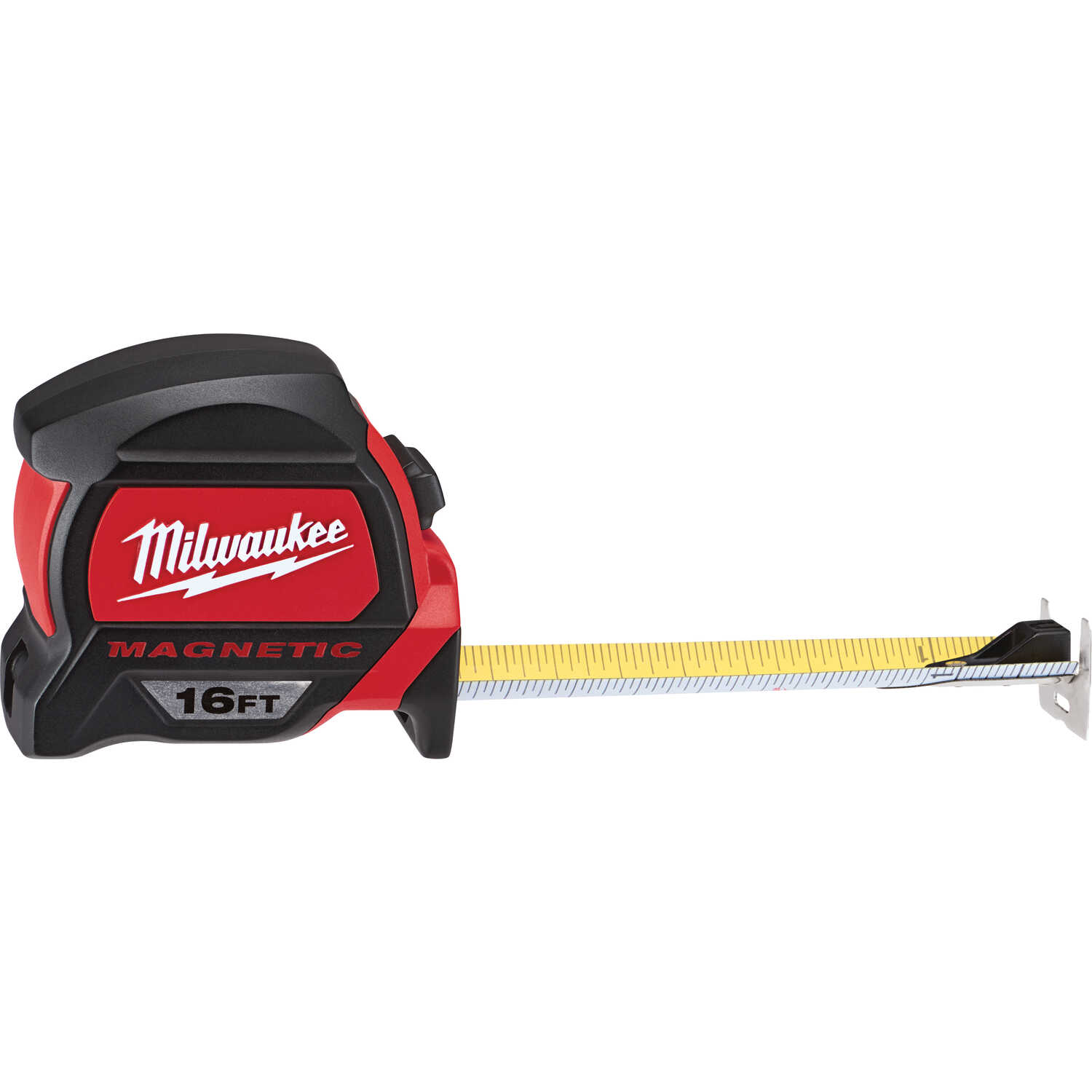 Milwaukee  16 ft. L Red/Black  Magnetic Tape Measure