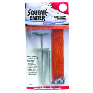 Squeak-Ender  6 in. L Phillips  Square Head Chrome  Steel  Floor Squeak Eliminator  1 set