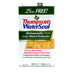Thompson's Waterseal  Clear  Oil-Based  Waterproofer Wood Protector  1.2 gal.