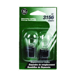 GE Miniature Lamps 3156 BP2 For Newer Model Hondas 12 volts Clear 2 Carded