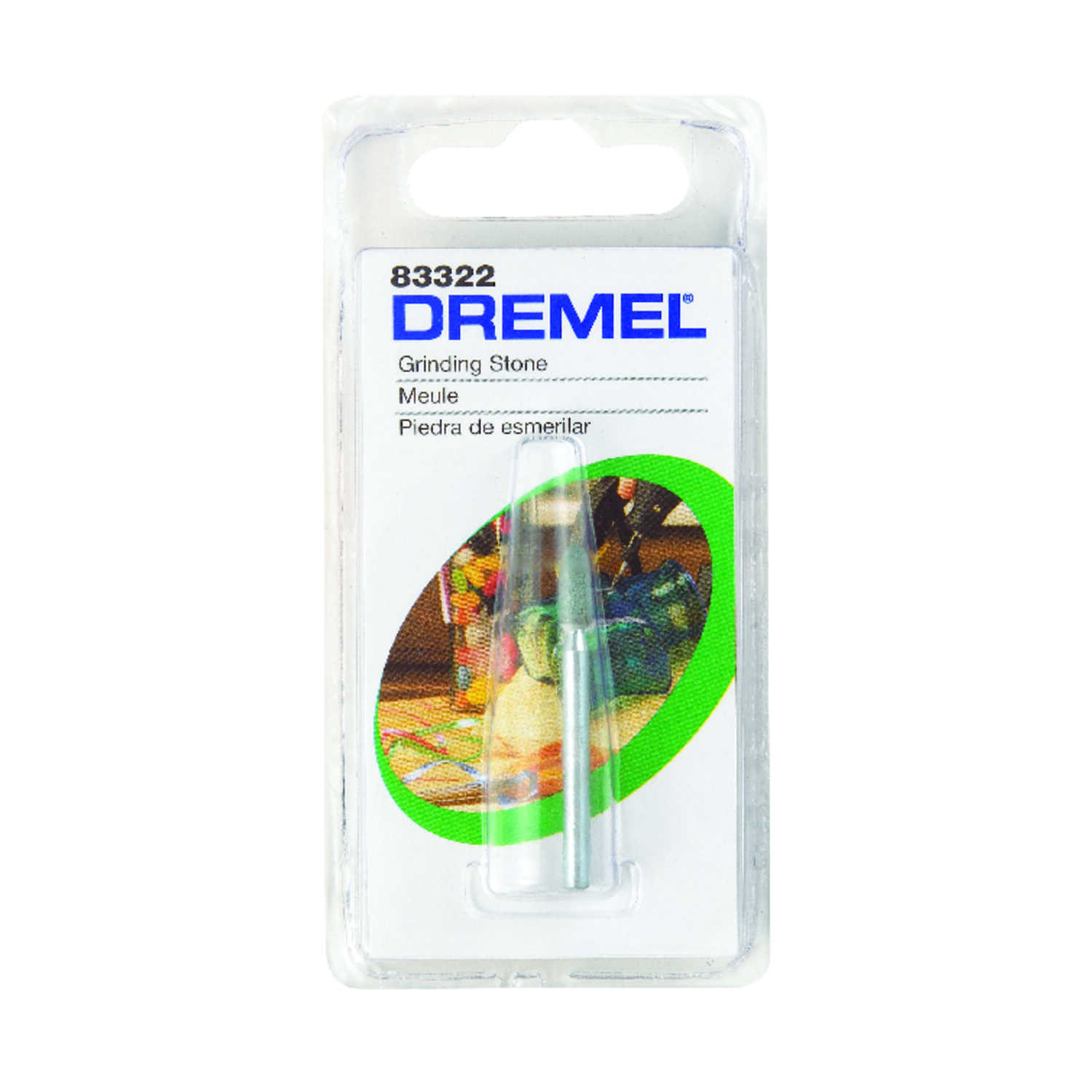 Dremel  1/8 in. Dia. x 1/8 in. L Silicon Carbide  Grinding Stone  Conical  35000 rpm 1 pc.