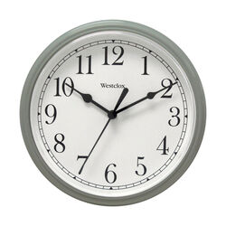 Westclox  9 in. L x 9 in. W Indoor  Analog  Wall Clock  Metal  Gray