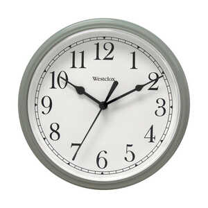 Westclox  Gray  Alarm Clock  8 in. Analog