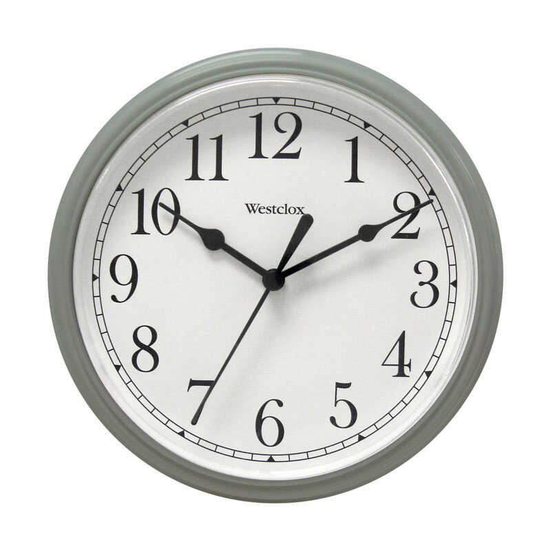 Westclox  8 in. Gray  Alarm Clock  Analog