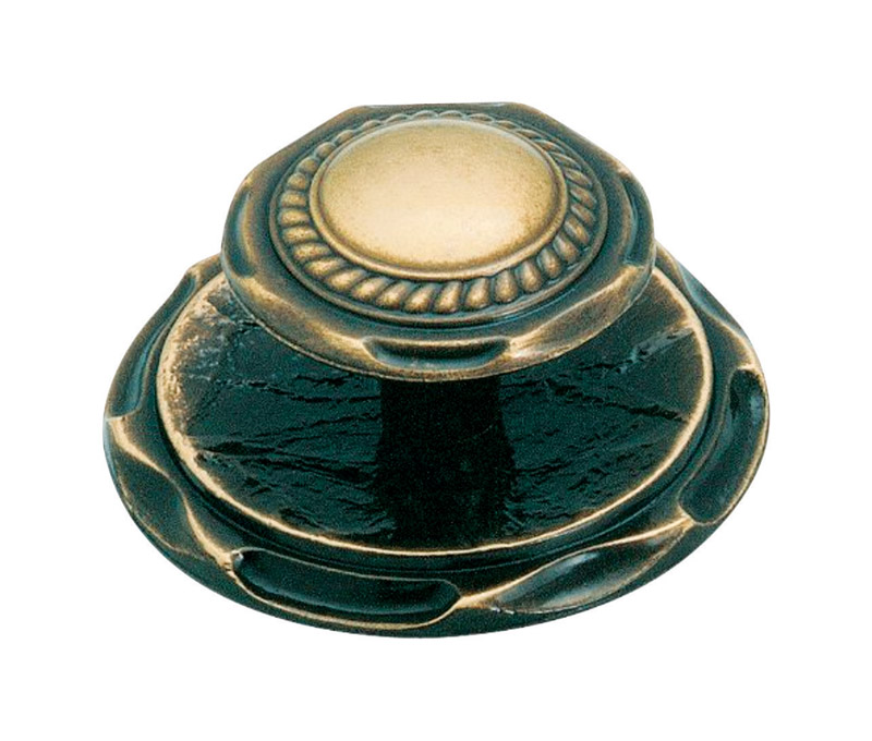 Amerock  Allison  Round  Cabinet Knob  2 in. Dia. 1 in. Antique English  1 pk