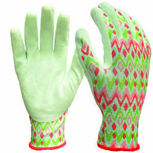 Digz  Women's  Indoor/Outdoor  Latex Coated  Gardening Gloves  Blue  S/M