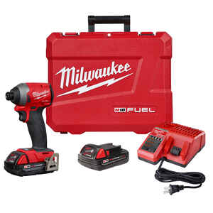 Milwaukee  M18 FUEL  18 volt 1/4 in. Hex  Cordless  Brushless Impact Driver  Kit 2000 in-lb