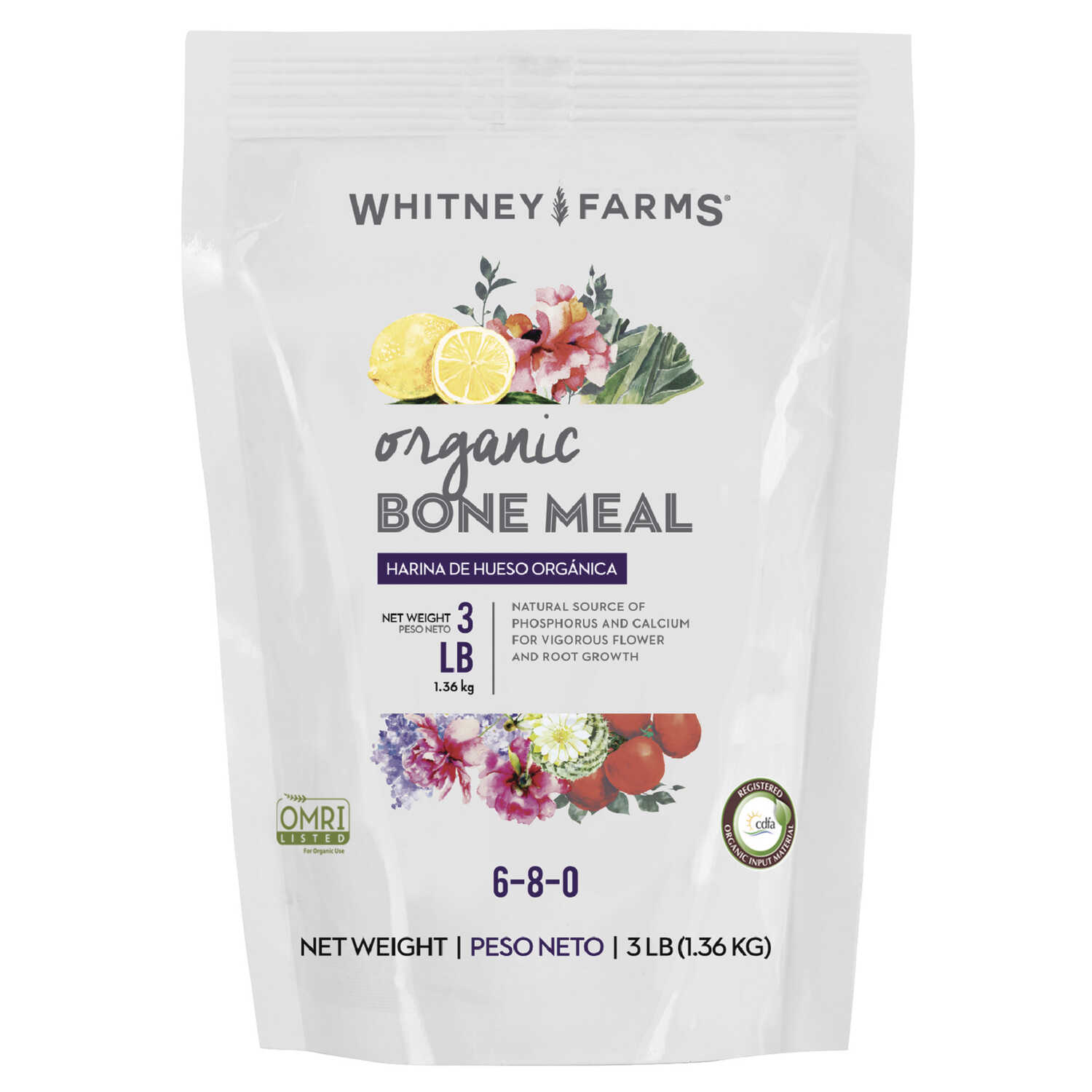 Whitney Farms  Bone Meal  Granules  Organic Plant Food  3 lb.