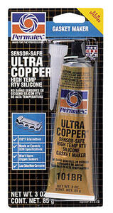 Permatex  Ultra Copper  RTV Silicone Gasket Maker  3 oz.