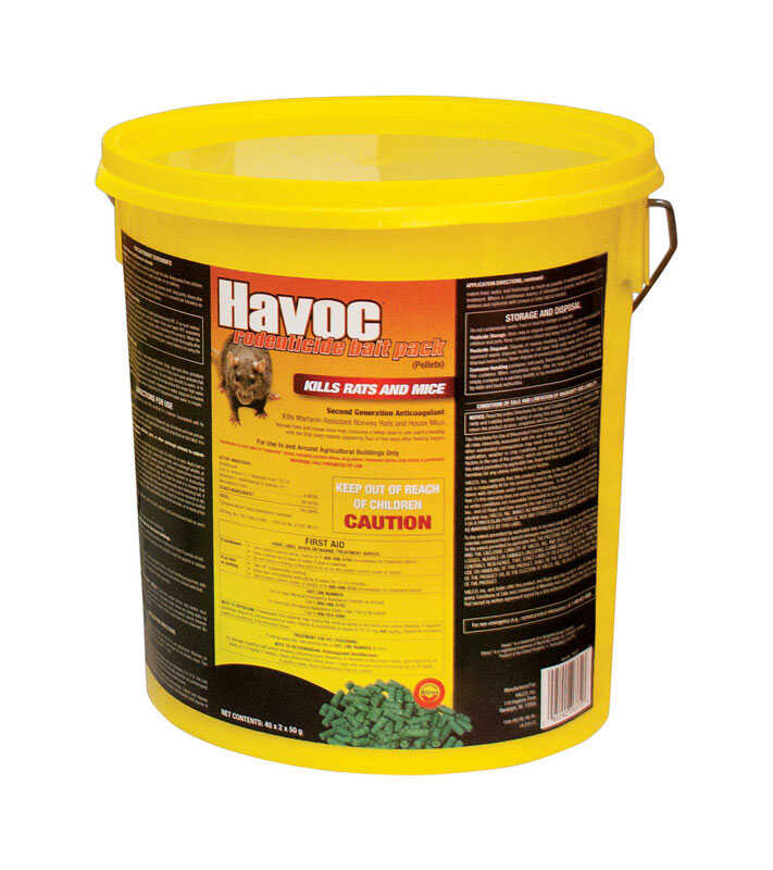 Havoc  Small  Bait Pellet Place Packs  For Mice/Rats 40 pk