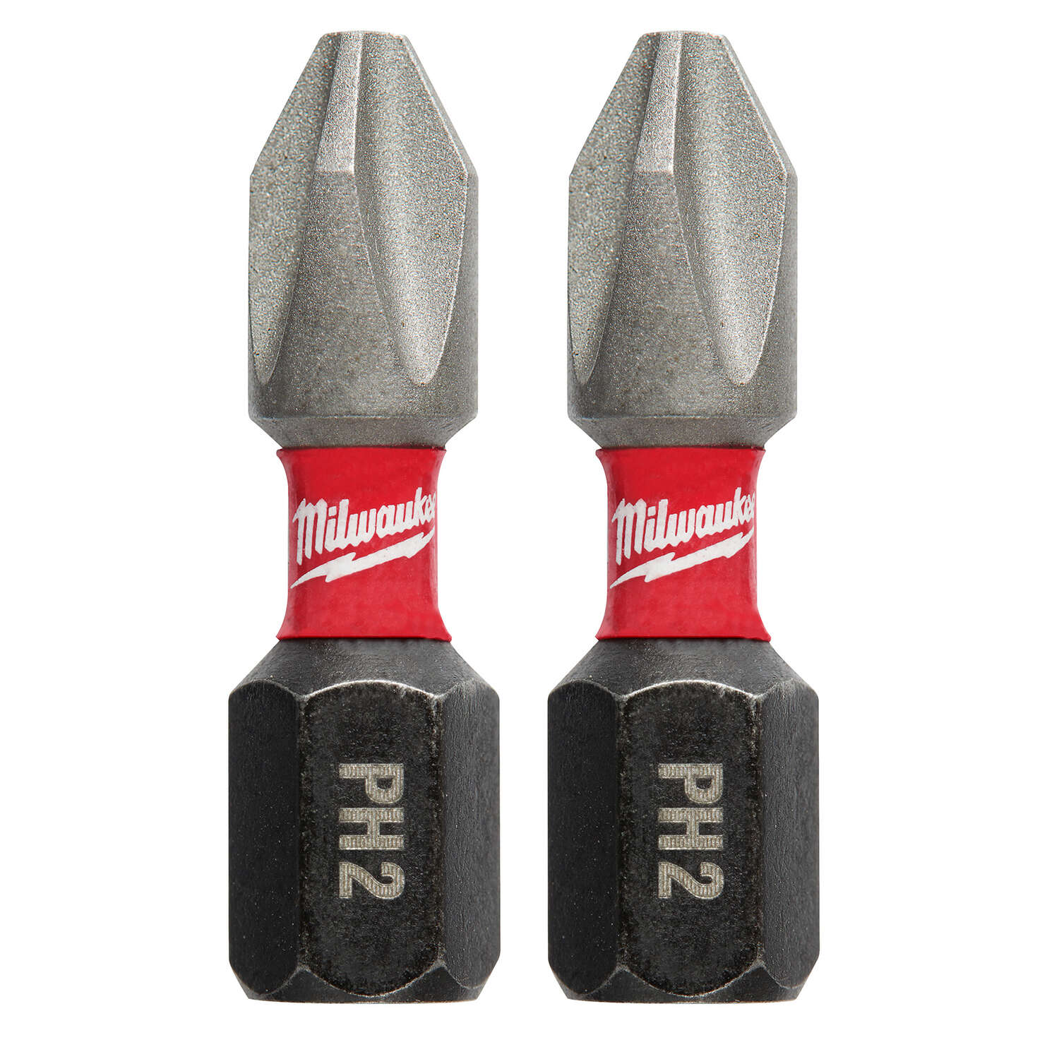 Milwaukee SHOCKWAVE Phillips 2 x 1 in. L Impact Duty Screwdriver Bit Steel 2 pc.
