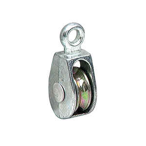 Wellington  Secureline  5/16 in. Dia. Zinc Plated  Steel  Fast Eye  Pulley