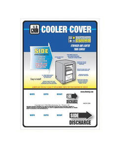 Dial  36 in. H x 34 in. W Polyester  White  Evaporative Cooler Cover