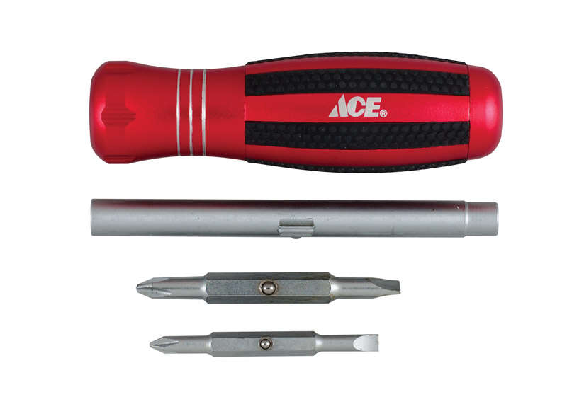 Ace  Screwdriver  1 pk Red
