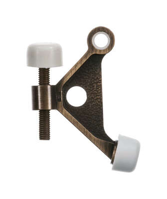 Ace  1 in. H x 2-5/8 in. W Metal  Antique  Gold  Hinge Pin Door Stop  Mounts to door and wall