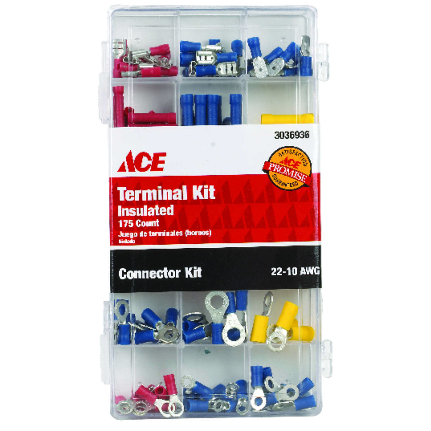 Ace  Terminal and Connector Kit  22-10 AWG 175 pk