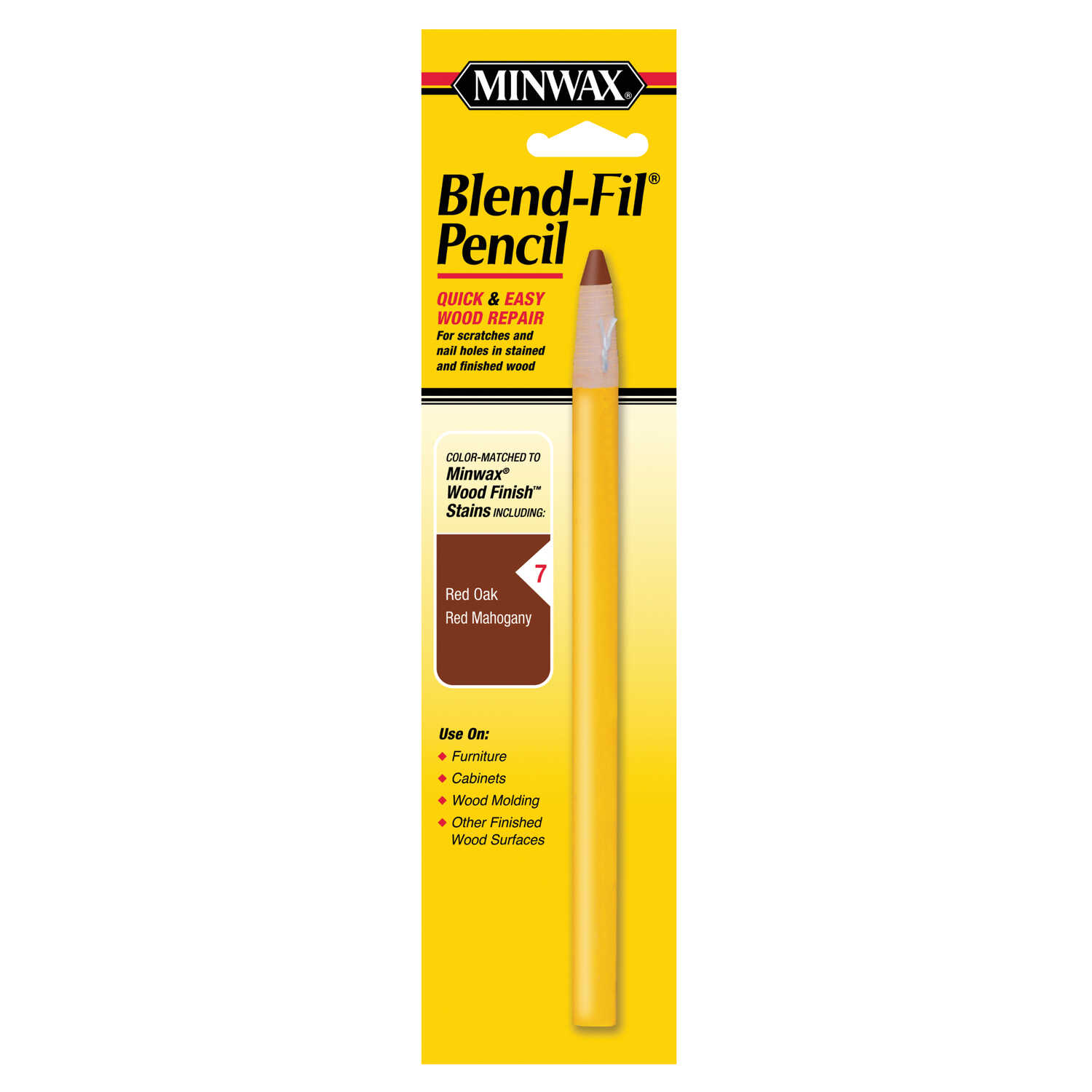 Minwax  Blend-Fil No. 7  Wood Pencil  1 oz. Red Mahogany, Red Oak