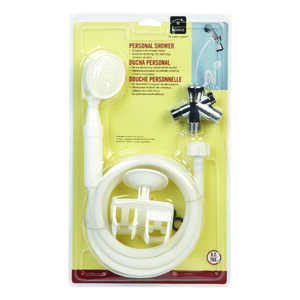 Homz  White  Handheld Showerhead
