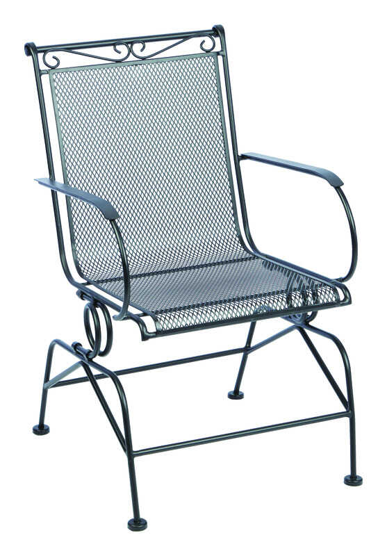 Living Accents  Coil Spring  Black  Steel  Chair