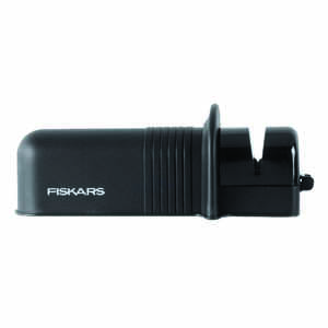 Fiskars  Matte  Plastic  Axe and Knife Sharpener  Black
