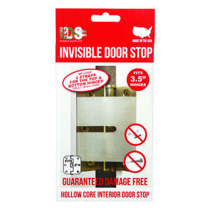 Invisible Door Stop  3-1/2 in. H Clear  Door Stop  Plastic