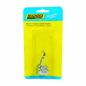 Seachoice  Chrome-Plated  Brass  2 in. L Cabin Door Hook  1 pc.