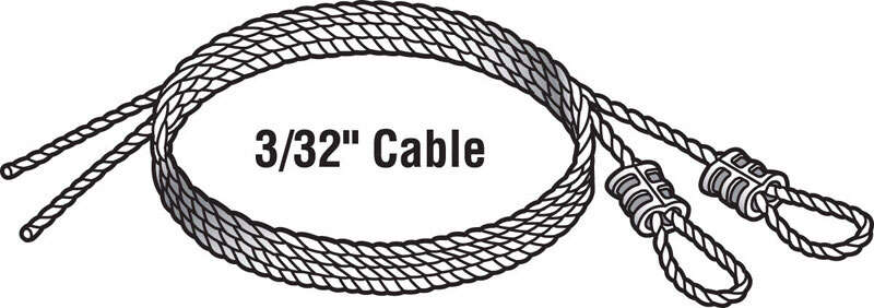 Prime-Line  25 in. L x 4.8 in. W x 102 in. L Torsion Spring Cable  75