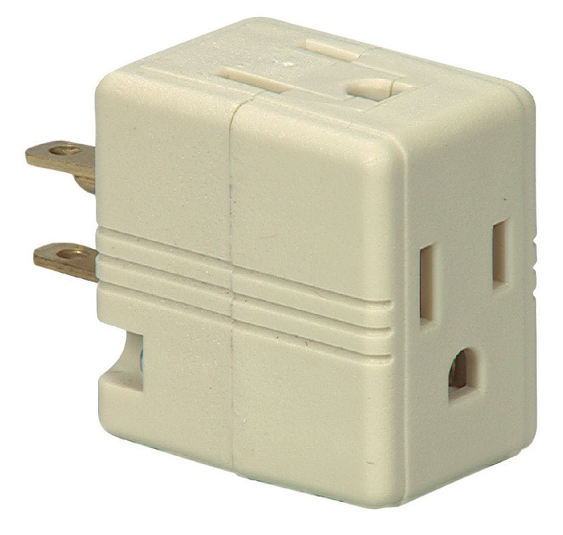 Ace  Polarized  3  Outlet Adapter  Surge Protection 1 pk