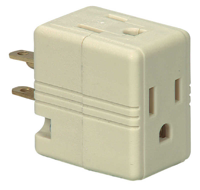 Ace  Polarized  3 outlets Outlet Adapter  1 pk