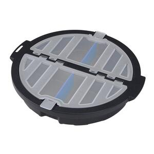 Ace  13 in. W x 2 in. H Plastic  Bucket Organizer  4 pocket Black  1 pc.