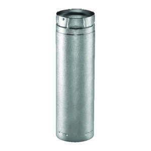 Duravent  4 in. Dia. x 24 in. L Galvanized Steel  Double Wall Stove Pipe