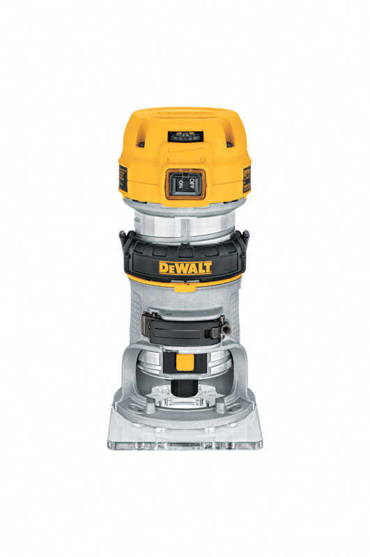DeWalt  1.25 hp 1-1/4 hp Corded  Compact Router  4-3/16 in. Dia. 27000 rpm 7 amps