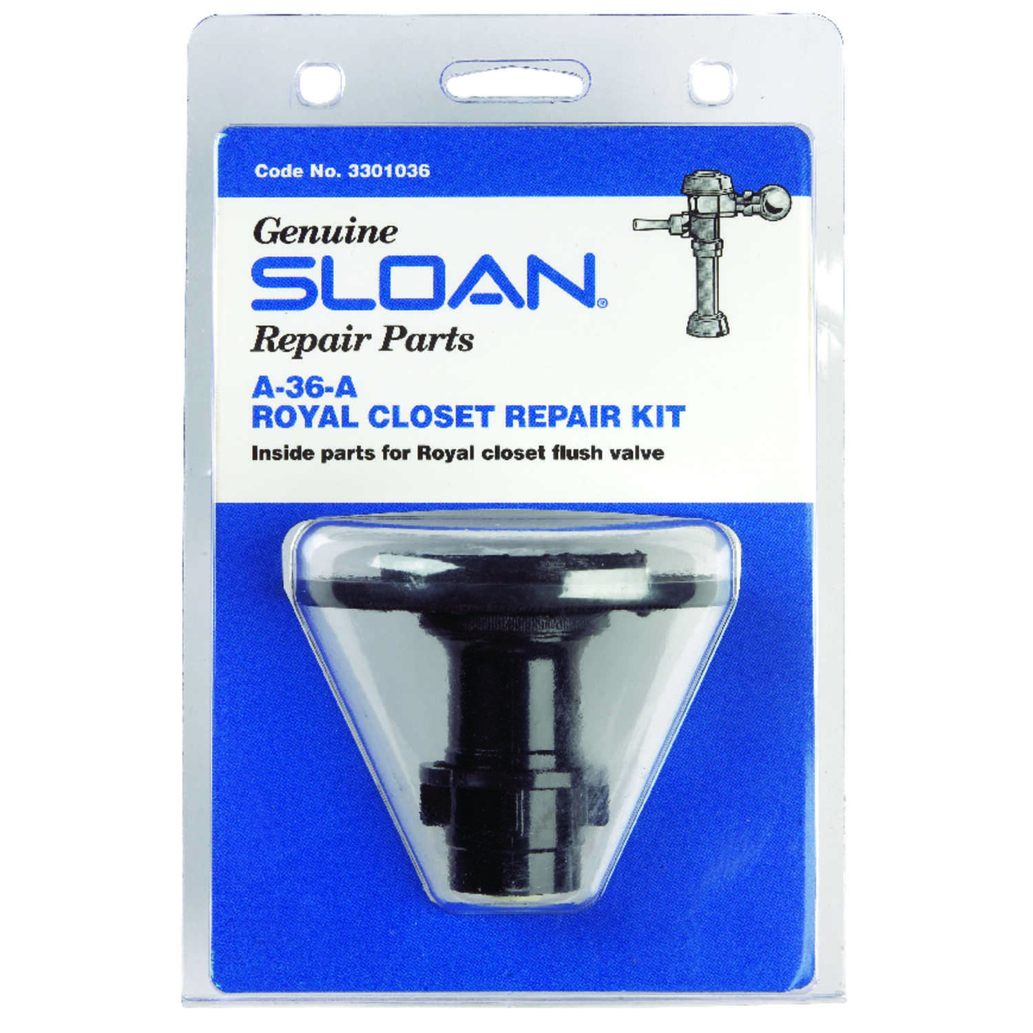 Sloan  Regal  Toilet Repair Kit  Black  Plastic