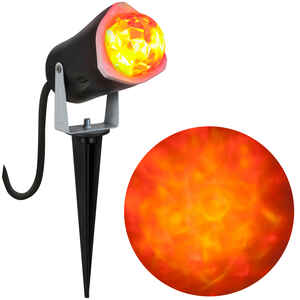 Gemmy  Fire and Ice Spot Light  Lighted Halloween Lights  3 in. W x 2-11/16 in. L 1 pk