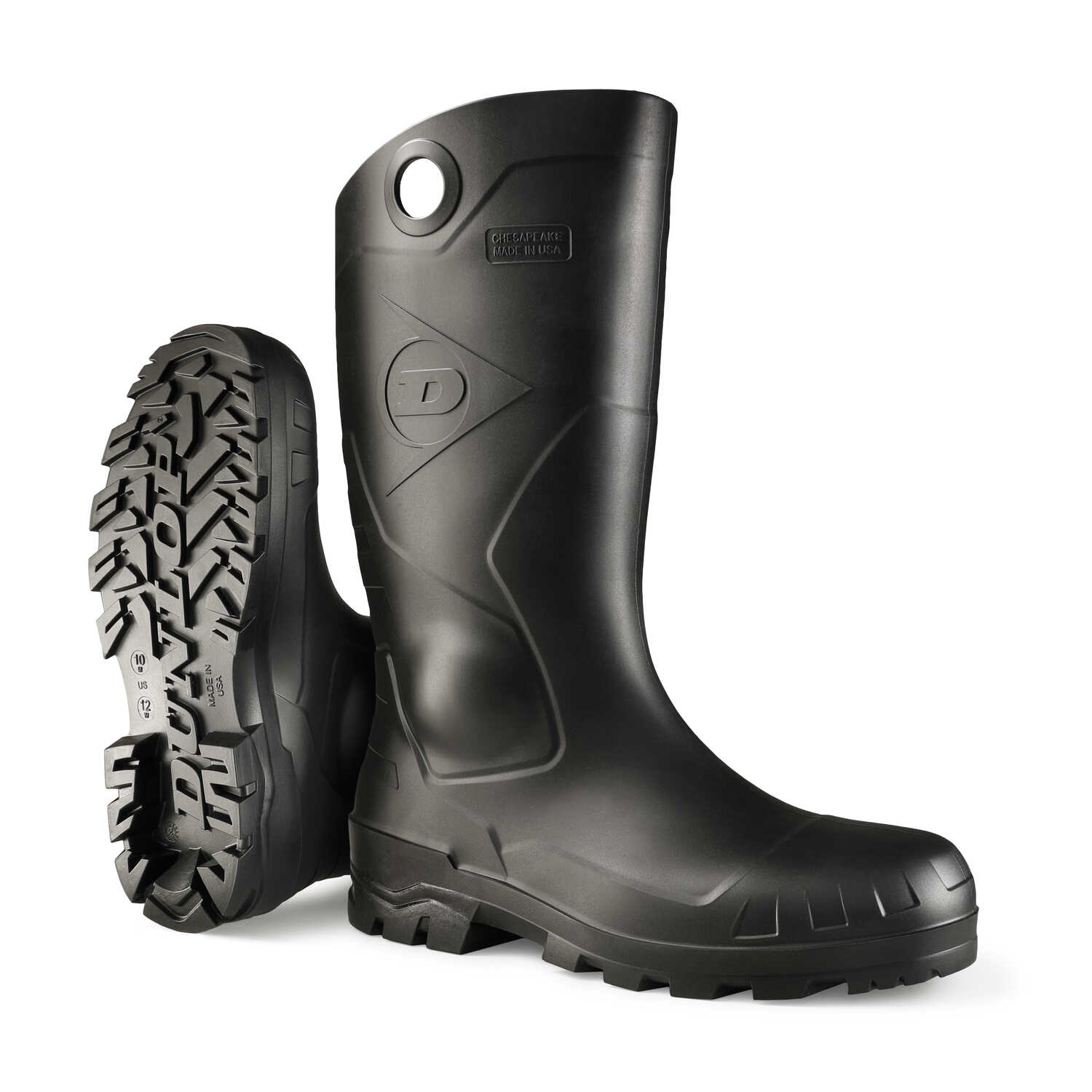 Dunlop  Waterproof Boots  Size 3  Black  Male