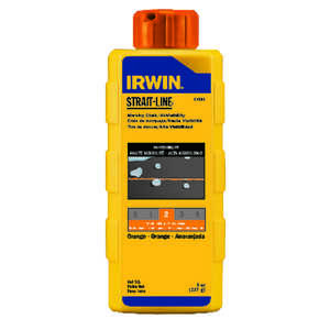 Irwin  Strait-Line  8 oz. Permanent  Marking Chalk  Fluorescent Orange